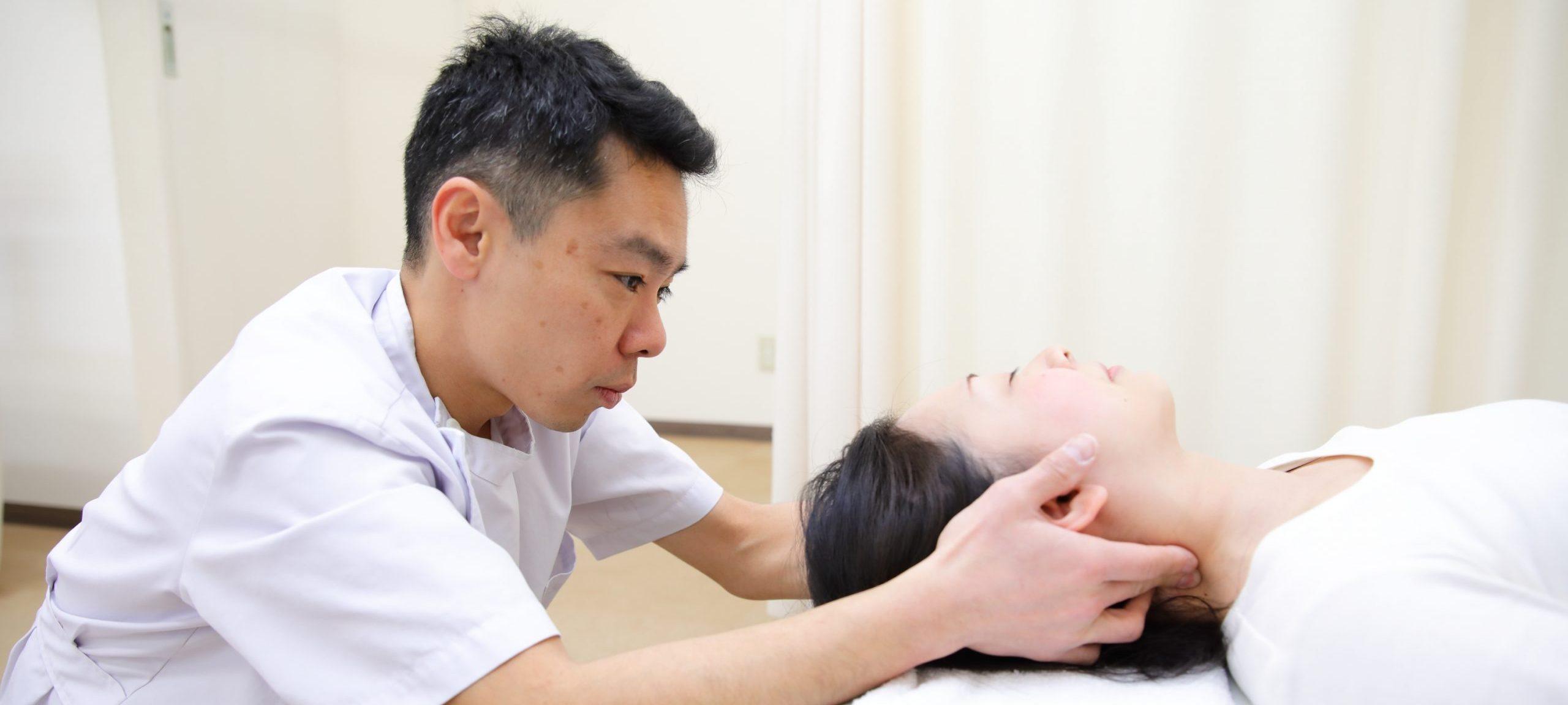 首(頸椎)の矯正|戸田市のまつなが接骨院